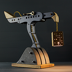 Dan Morrison's Blott Works: Mini-Hawk Lamp