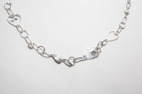 'Heart' long silver necklace Gabriella Sellors