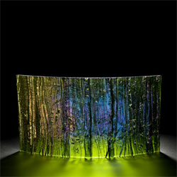 ?Mystic Forest? glass panel by Cathryn Shilling