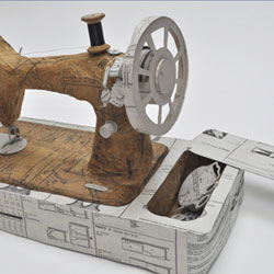 Model sewing machine by paper artist Jennifer Collier