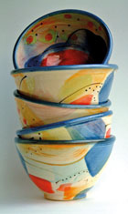 Ceramic bowls by Sue Sharp for National Ceramic Week