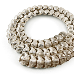 Swirl Shell silver necklace by Daniela  Dobesova.