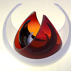 Hand blown glass by Desiree Hope.