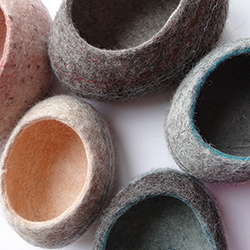 Felt 'Pebble Bowls' by Rachel Morley